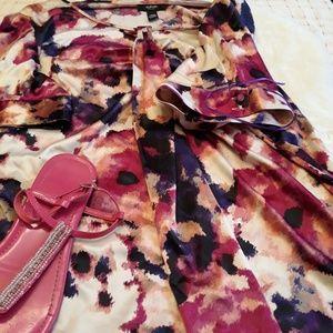 Alfani pink purple blouse SiZE 20W minor flaw